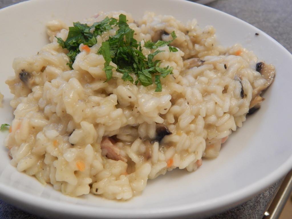 bacon mushroom risotto recipe