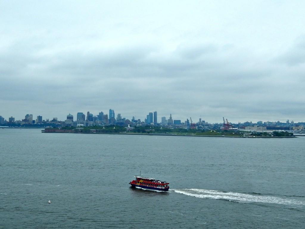 NY Island and boat