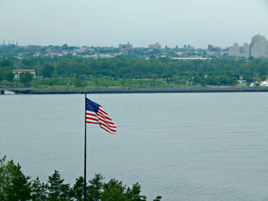NY View with flag