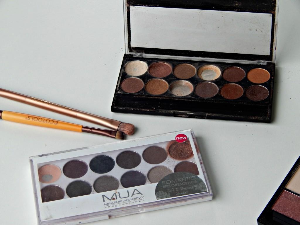 MUA palettes