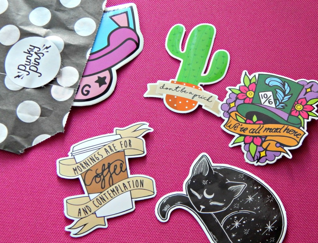 Punky pins stickers