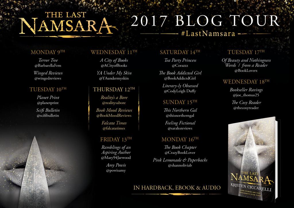 Namsara Blog Tour Banner