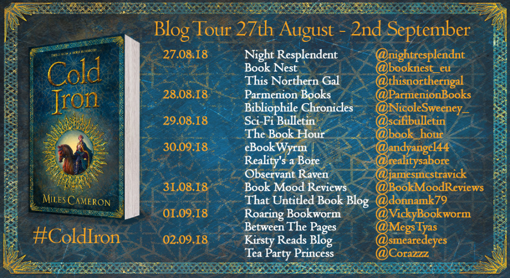 Cold Iron blog tour graphic