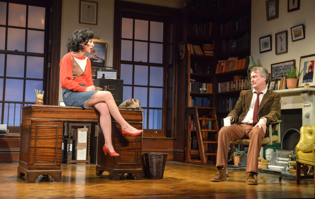 Jessica Johnson as Rita and Stephen Tompkinson as Frank in EDUCATING RITA. Credit Robert Day (press 2)